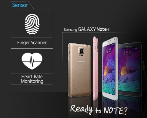 Khoa van tay tren Samsung Galaxy Note 4 huong dan chi tiet