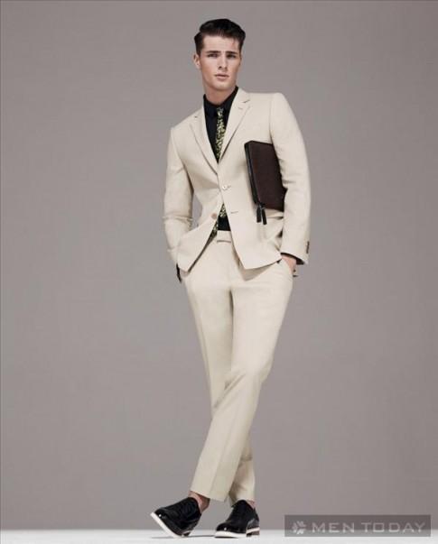 Lookbook thoi trang nam xuan he 2014 cua Versace