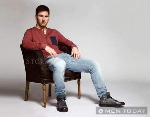 Messi bui bam va nam tinh trong bo anh thoi trang