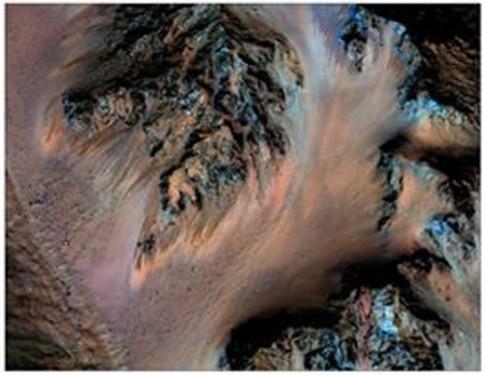 NASA xac nhan co nuoc chay tren sao Hoa