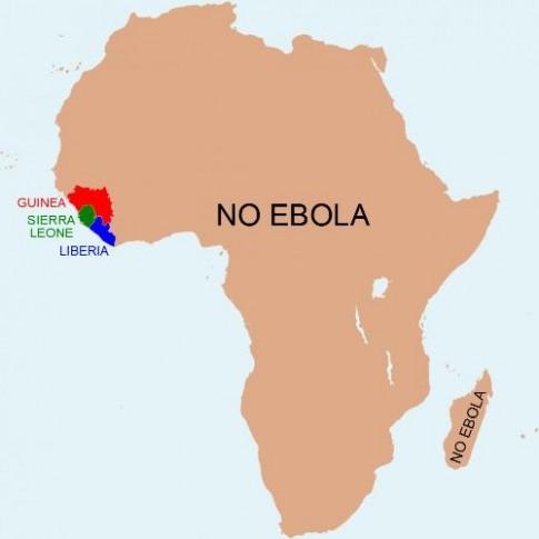 Nhung vung 'khong Ebola' o chau Phi