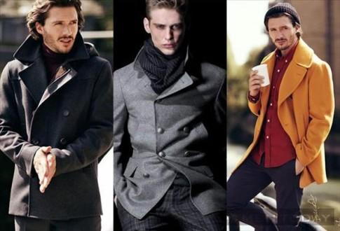 Pea coat và 4 cách phối đồ nam mùa đông 2013
