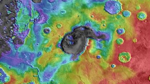 Siêu núi lửa trên sao Hỏa