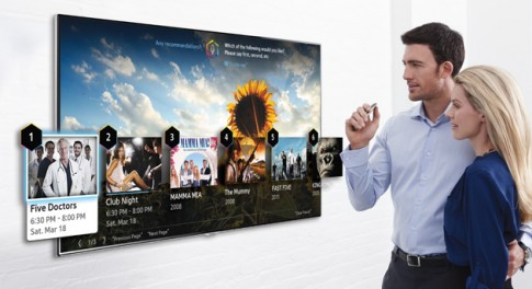 Smart TV cua Samsung cho dieu khien bang dau ngon tay