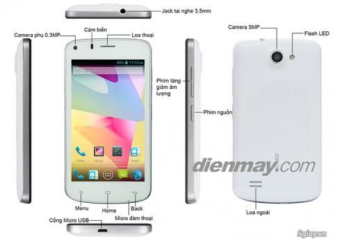 "Smartphone 4 nhan Gionee P3- Man khong to nhung gia re va rat ""on ap"""