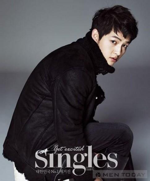 Song Joong Ki khoe vẻ nam tính trên tạp chí