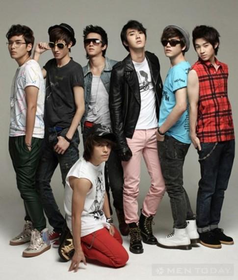 Super Junior va nhung sac mau thoi trang