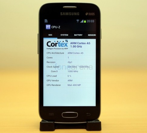 Test suc manh smartphone gia re cua Samsung