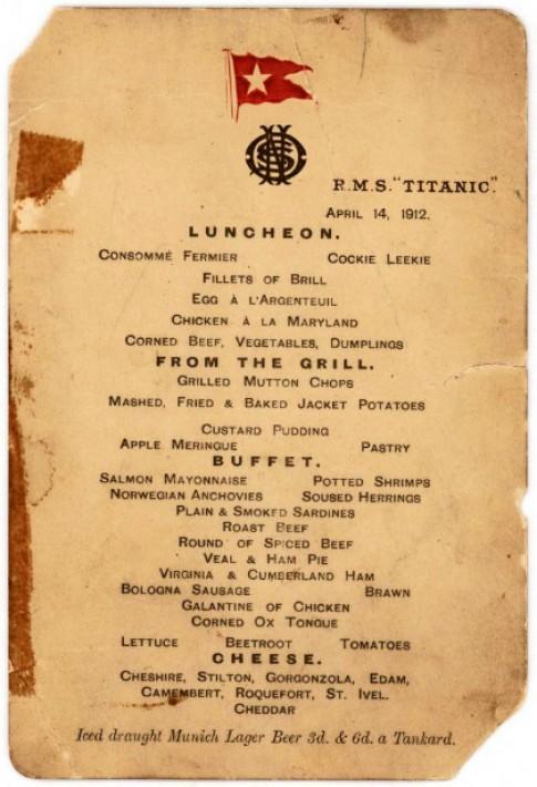 Thuc don bua trua cuoi cung tren tau Titanic