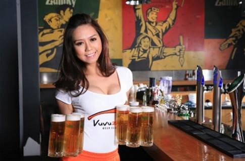 Thuong thuc bia tuoi va mon an ngon