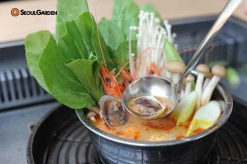 Thuong thuc buffet khuyen mai tai Seoul Garden