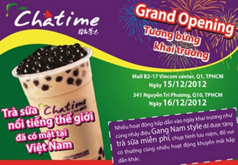 Thuong thuc tra sua Chatime Bubble Tea