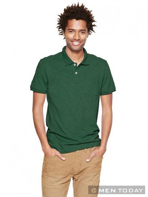 Trang phục xanh cho chàng mát mẻ ngày thu từ Gap