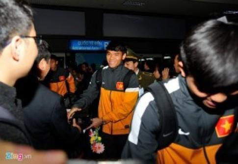 U23 Viet Nam met moi o san bay Noi Bai