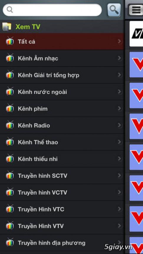 """""""XEM TV HD"""" ung dung XEM TV vs NGHE Radio truc tuyen MIEN PHI"""