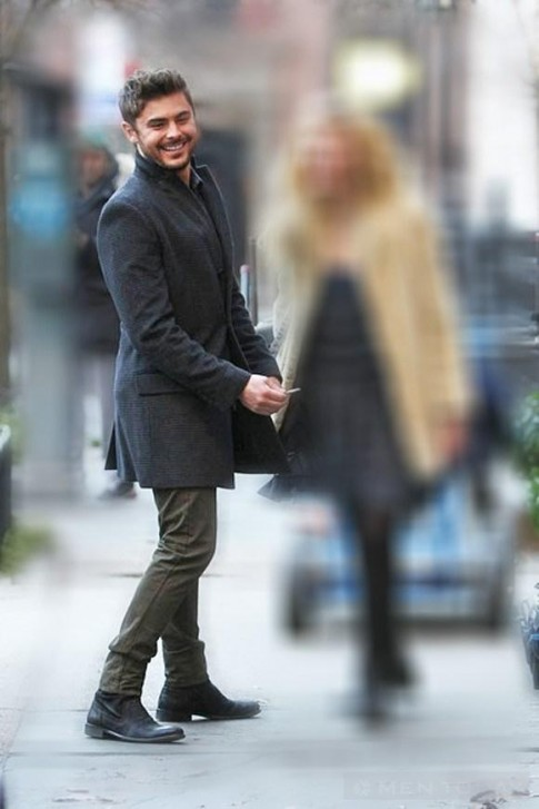 Zac Efron am ap voi trench coat