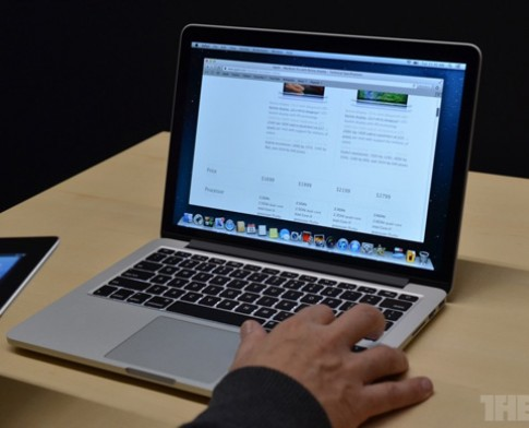 Anh MacBook Pro Retina man hinh 13 inch sieu mong nhe