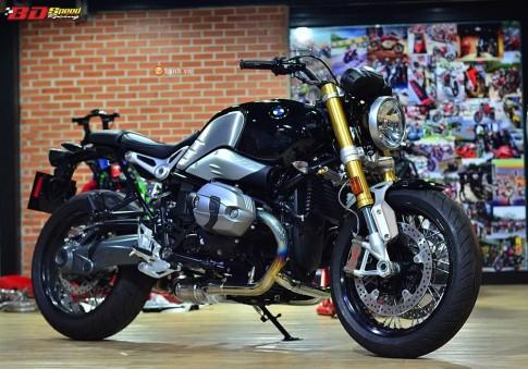 BMW R Nine T độ nhẹ một số chi tiết đồ chơi hàng hiệu