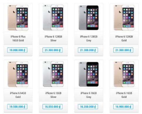 Bo doi iPhone 6 hang 'xach tay' giam gia sau, ban cham