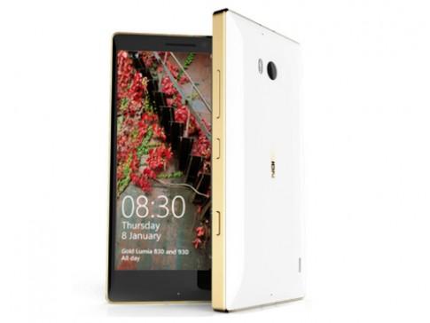 Bo doi Lumia 930, 830 them ban mau vang, gia khong doi