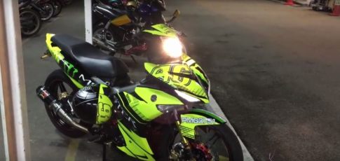 [Clip] Yamaha Y15ZR độ phong cách Monster Rossi của biker nước bạn