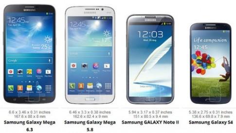 Dien thoai 'khong lo' Samsung Galaxy Mega do kich thuoc