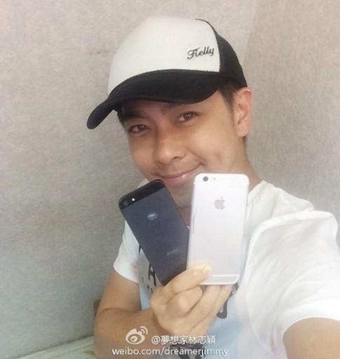 Dien vien Lam Chi Dinh khoe da dung iPhone 6