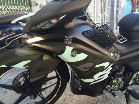 Exciter 135 do dan ao Nguoi Linh cua biker Ninh Binh