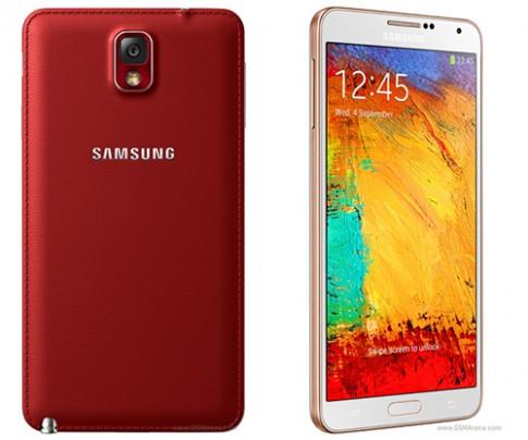 Galaxy Note 3 co them phien ban mau do va vang anh hong