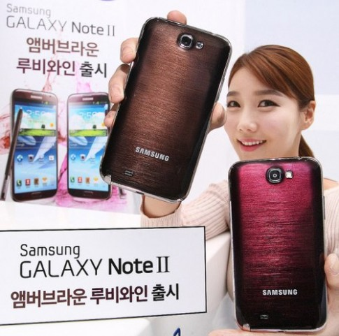 Galaxy Note II them 2 mau moi