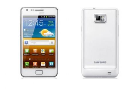 Hinh anh Galaxy S II mau trang xuat hien