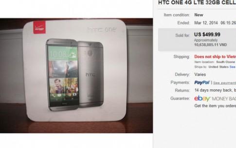 HTC One 2014 chua ra mat da duoc rao ban gia 500 USD