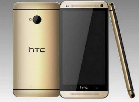 HTC One co them mau vang giong iPhone 5S