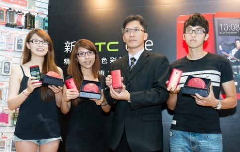 HTC One mau do bat dau ban o Dai Loan