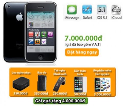 iPhone 3GS phien ban 2012 duoc phan phoi tai HnamMobile
