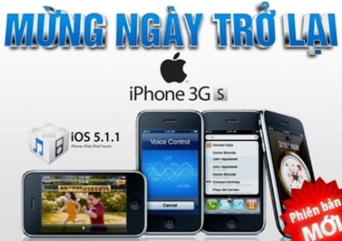 iPhone 3GS phien ban moi mung ngay tro lai