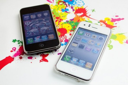 iPhone 3GS thay vo trang nhu iPhone 4