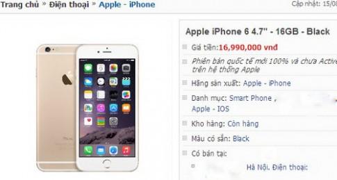 iPhone 6 'xach tay' 16 GB giam gia hon 1 trieu dong