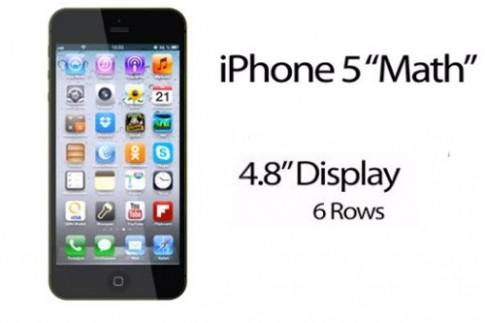 iPhone Math 4,8 inch duoc dung bang do hoa