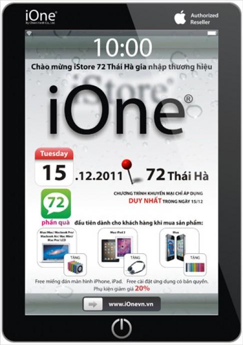 iStore 72 Thai Ha gia nhap he thong iOne