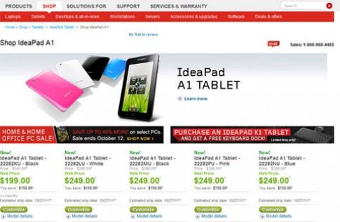 Lenovo lặng lẽ bán IdeaPad A1, giá từ 199 USD