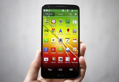 Mo hop LG G2 phien ban mau vang o VN