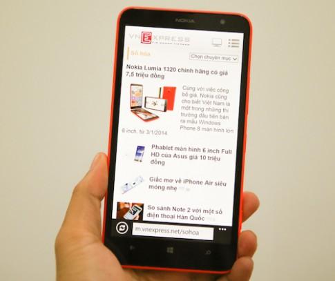 Mo hop Nokia Lumia 1320 tai Viet Nam