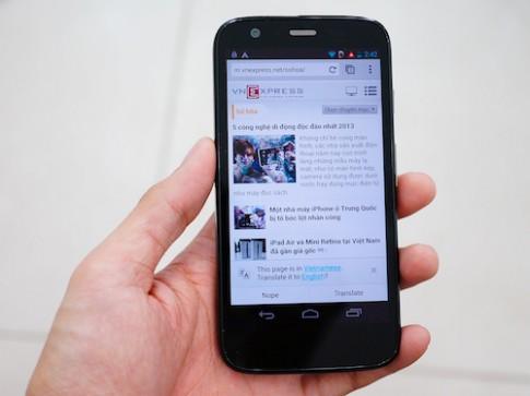 Motorola G chinh hang gia 4,25 trieu dong