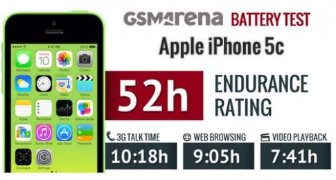 Pin iPhone 5C cho thoi gian su dung hon 2 ngay