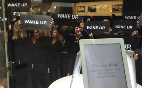 Samsung phu nhan 'giat giay' vu bieu tinh tai Apple Store