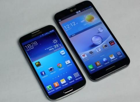 So sanh thiet ke cua Galaxy S4 va Optimus G Pro