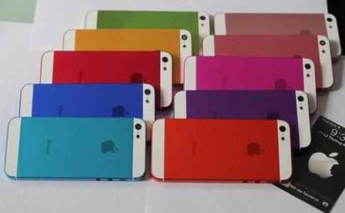 Vo iPhone 5 voi 10 mau sac khac nhau