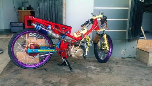 Wave 110cc duoc thiet ke theo phong cach drag thai voi bo khung suon Ducati co 1.0.2