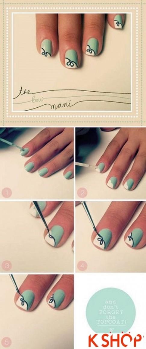 10 mẫu vẽ nail móng tay đơn giản đẹp dễ thương cho bạn gái cá tính 2016